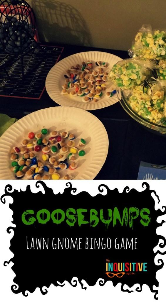 Goosebumps Birthday Party Lawn Gnome Bingo Game