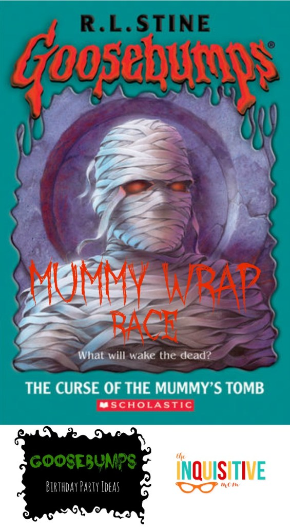 Goosebumps Birthday Party Mummy Wrap Race