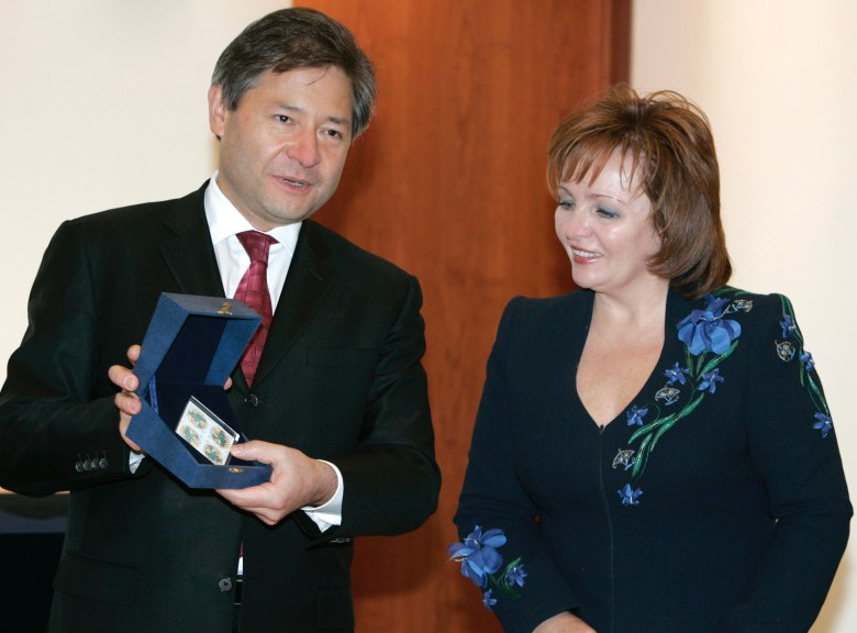 The Russian president s wife Lyudmila Putina Information Technologies and Communication Minister Leonid Reiman participating in