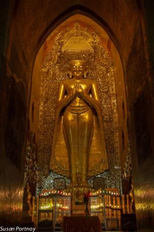One of 4 huge statues in the Ananda Temple in Bagan - built in 1105 A.D.