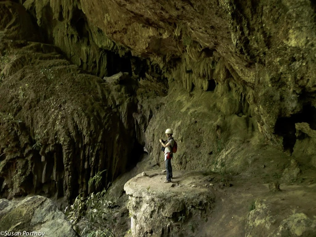 In the caves -- Getting ready to drop! BElize and the Black Hole Drop
