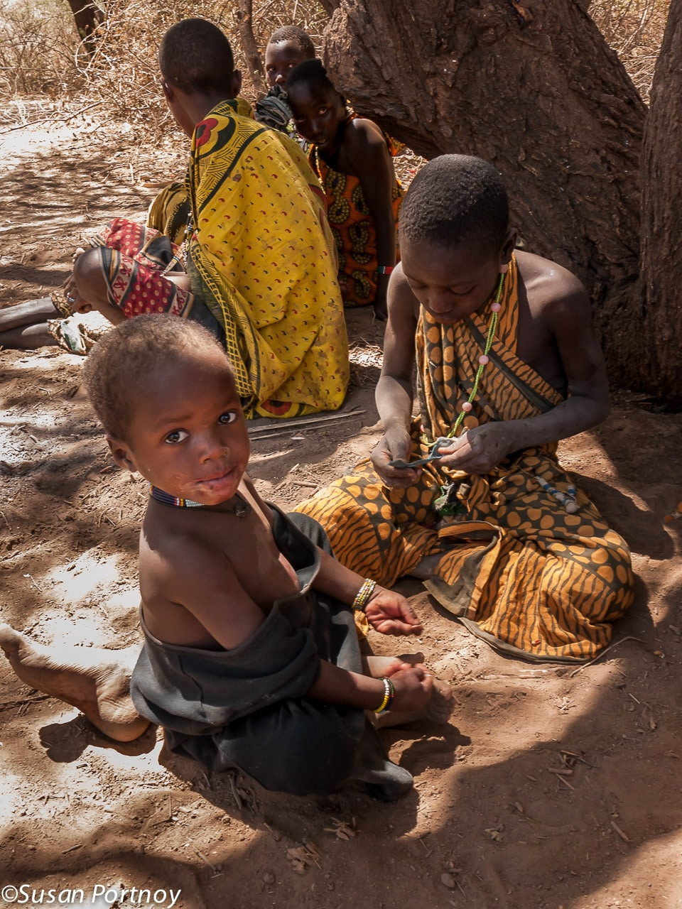 Young Hadzabe children playing
