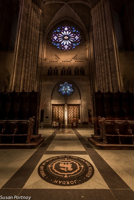 St. John the Divine - View from the choir area to the main entrance and the Rose window