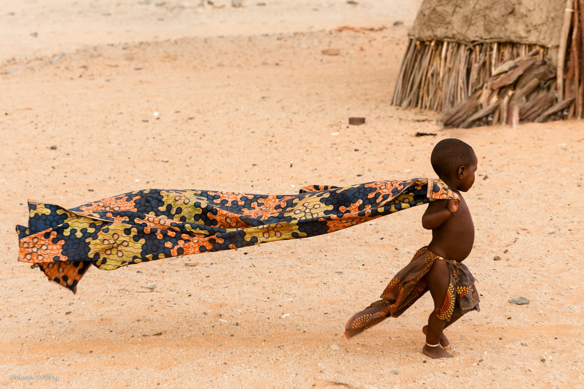 This little girl just loved her scarf - she played with it for hours