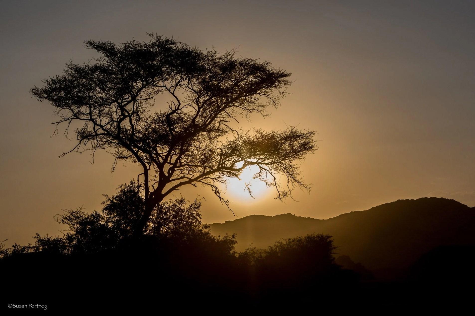 Sunset near Hoanib Skeleton Coast Camp in Namibia