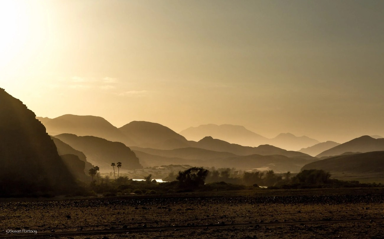 The Kunene river mountains near Serra Cafema camp in Namibia