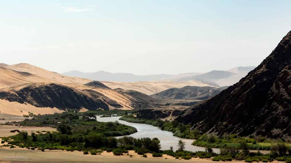 Kunene river in Namibia