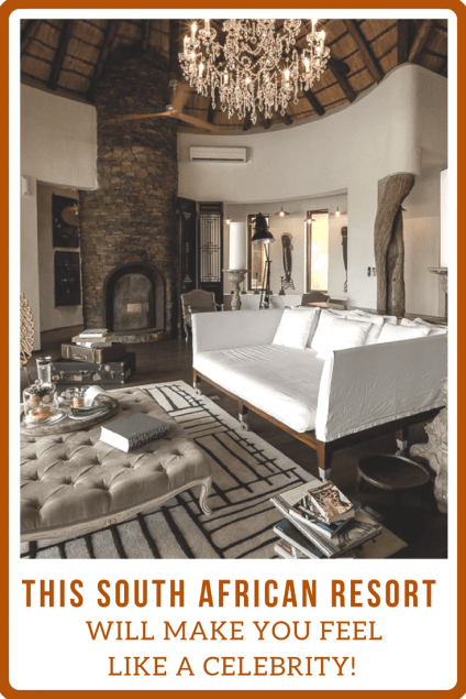 This incredible, ultra-lux South African resort treats you as if you're a celebrity. Even when you're not!