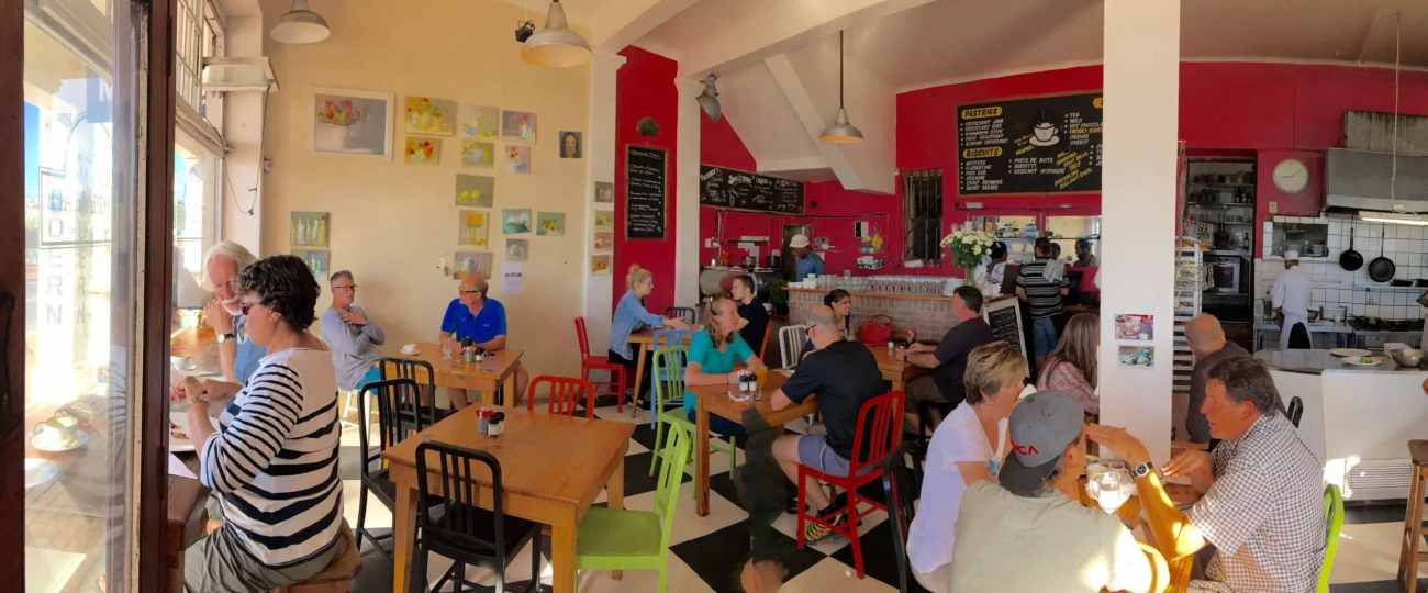 Panorama of the Olympia cafe on our Cape Town Road Trip