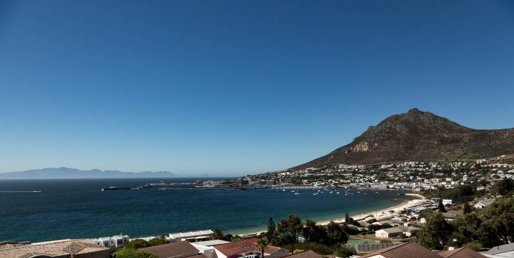 Simon's town harbor in the distance and home to South Africa's Navy.