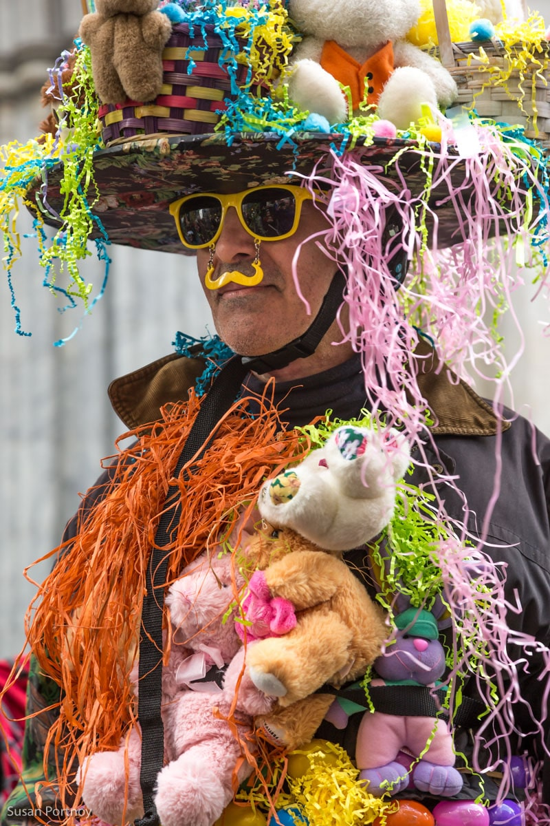 Man in costume at the Easter Parade New York City 2016