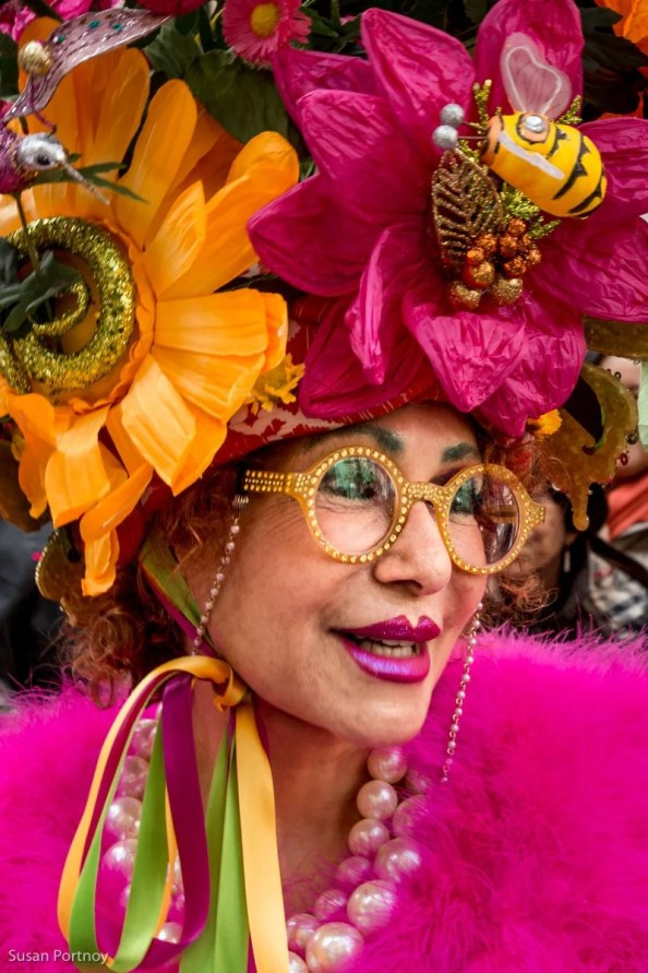 Purely Patrica Flower costume in the Easter Parade NYC in 2016