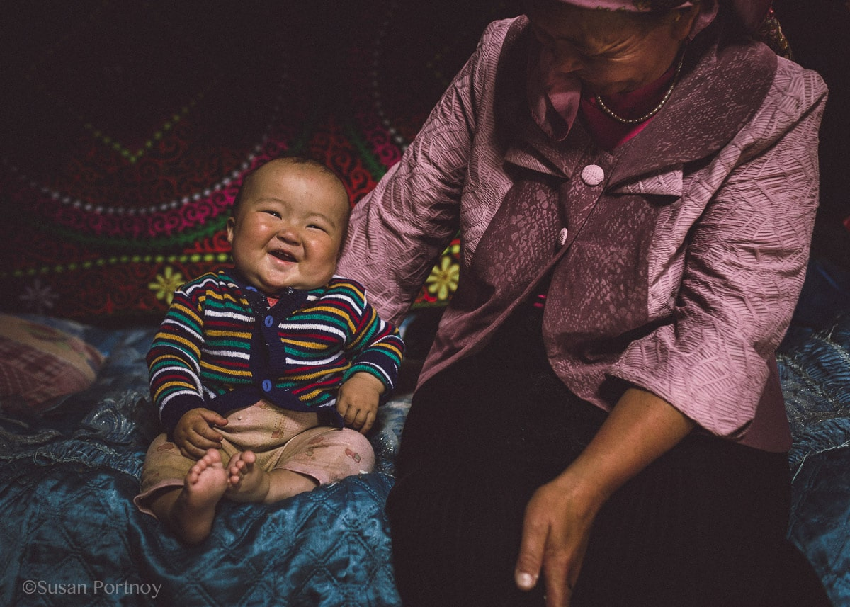 adorable baby laughing