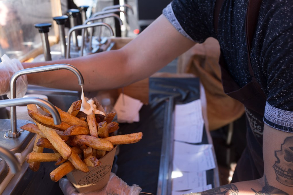 Home Frite House Fries with Garlic Aoili - at Smorgasburg Brooklyn