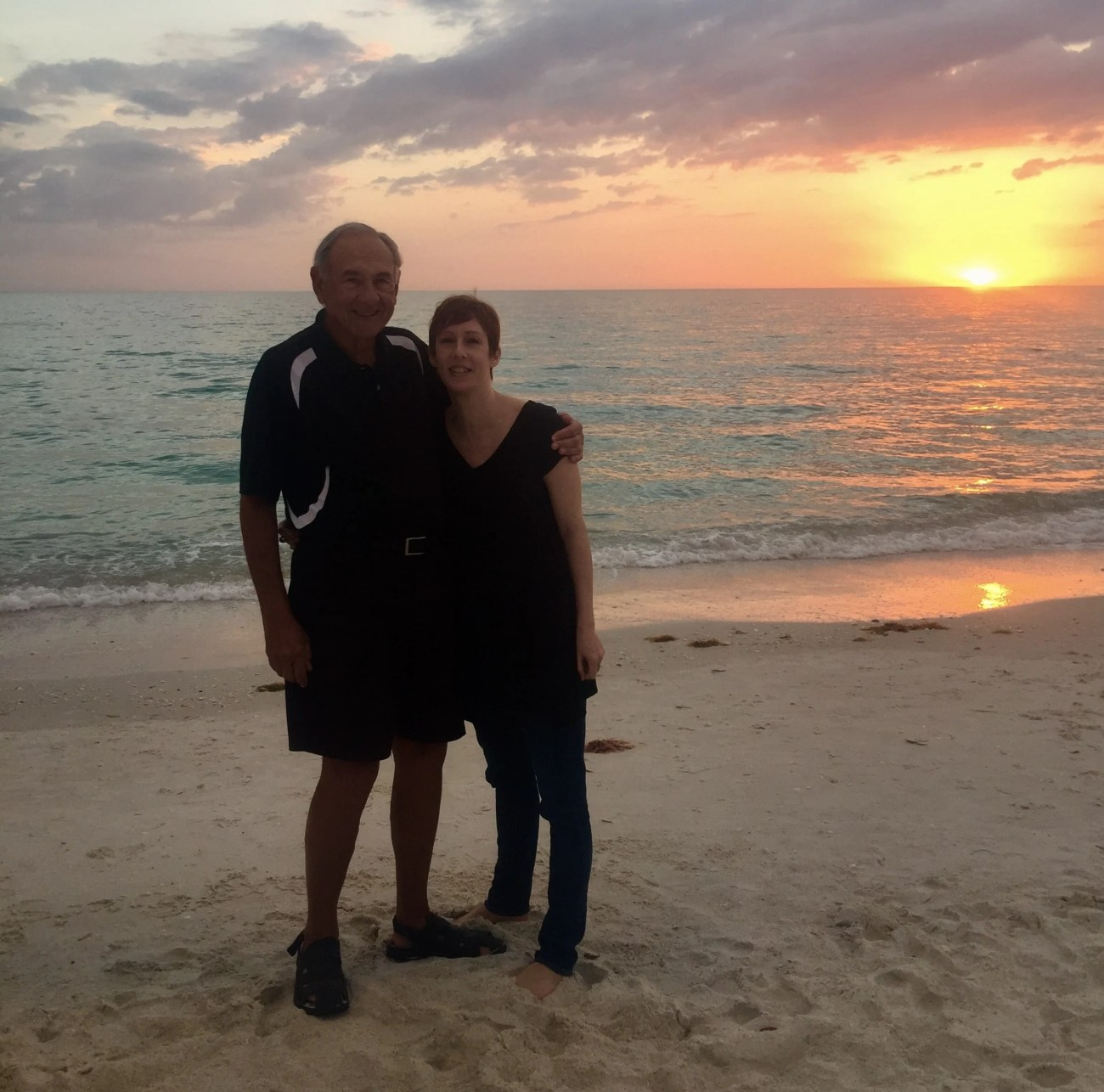 Susan Portnoy and Father on a beach - Taking Bad Photos