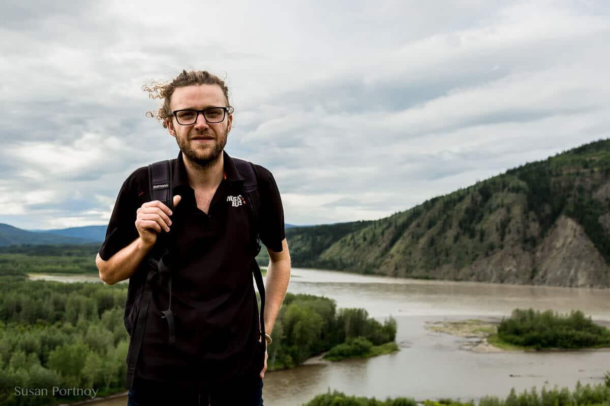 Matthias Macaphee, our wonderful hipster interpreter. --Dawson City, the Heart of the Klondike Gold Rush