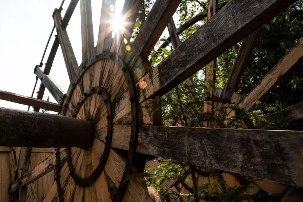 Giant paddle wheel --Exploring Sternwheeler Graveyard Dawson City, Yukon