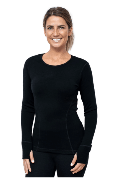 WOMEN'S RILEY LONG SLEEVE CREW 400 HEAVYWEIGHT