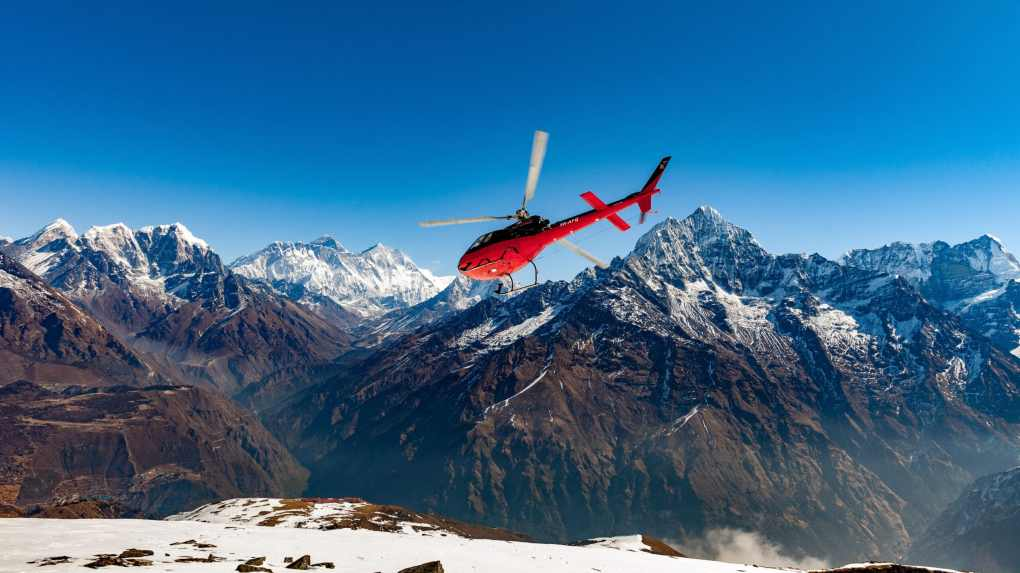 """Himalayas by Helicopter"" 