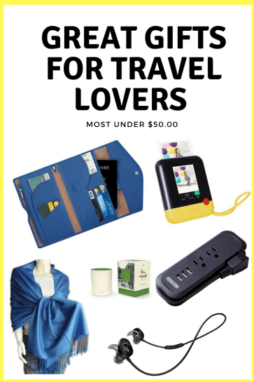 Great Gifts for travel lovers_ Have a travel lover on your list_ From luggage to stocking stuffers, here are some of my favorite finds from my time on the road. (Most under $50.00.)