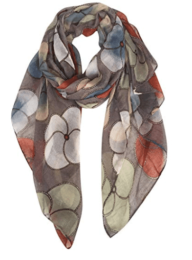 GERINLY Scarf Wrap Fashion Cozy Scarves Womens Floral Evening Shawls