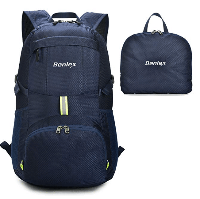 Foldable Backpack Packable Travel Backpack - 35L