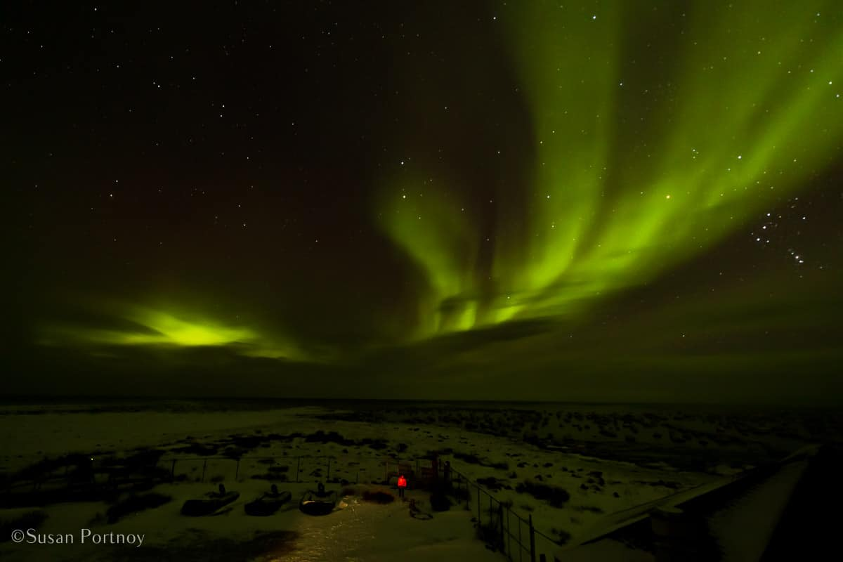 Northern Lights over Seal River Heritage Lodge on Hudson Bay | What it's like to be on Canada's only Walking Polar Bear Photo Safari