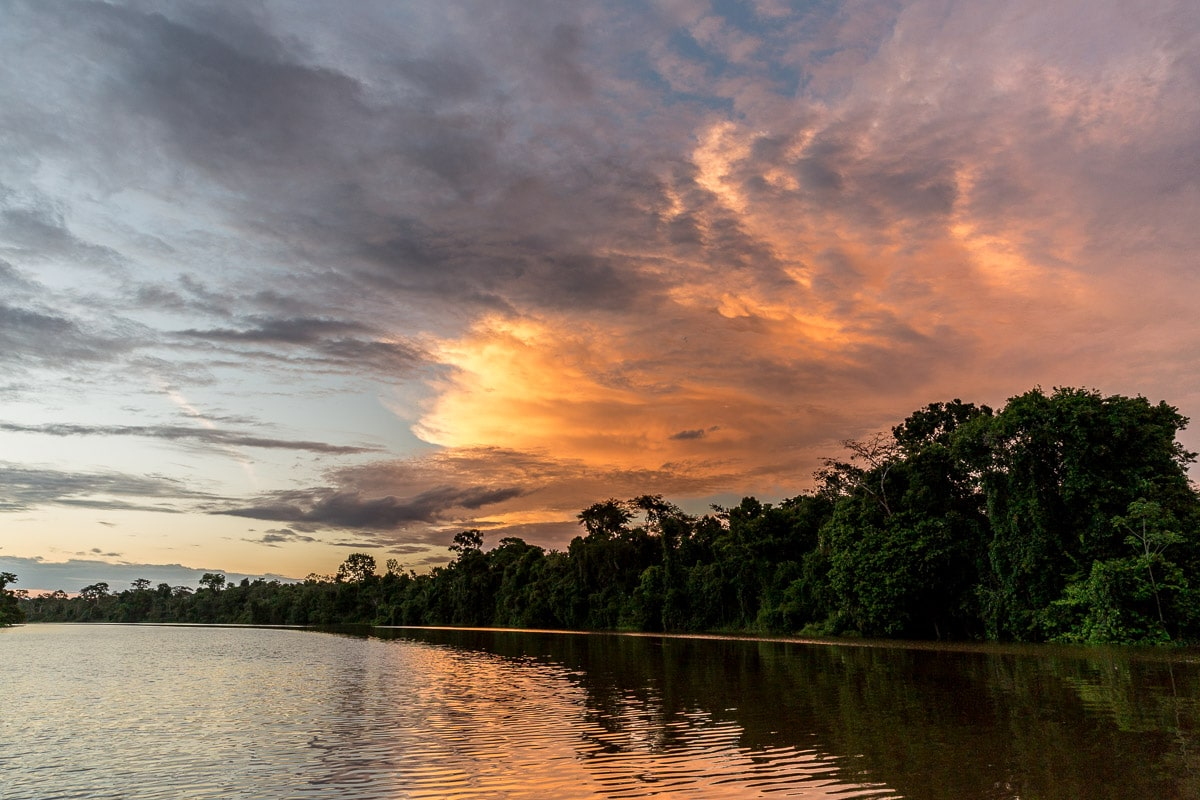 Sunset on the Amazon River Cruise Peru -International Expeditions-0830
