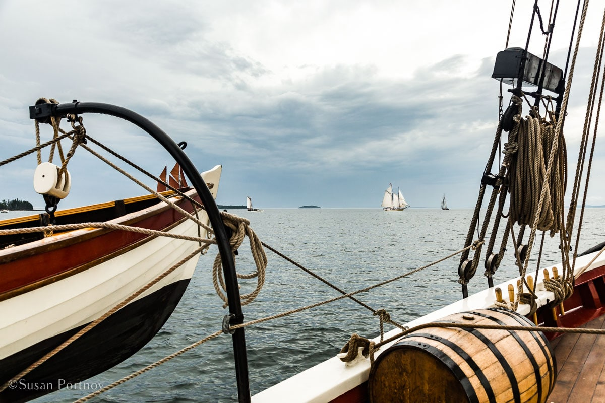 A view across the Penobscot Bay from the J & E Riggin - Windjammer Cruise in Maine -705820180706