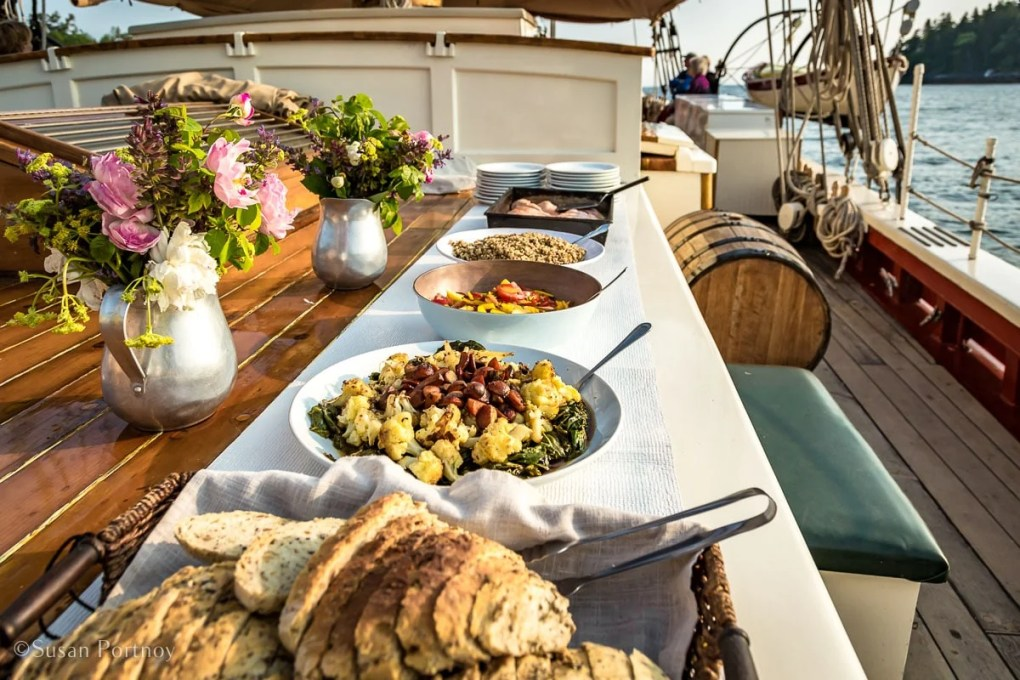 Buffet dinner on the J & E Riggin -Windjammer cruise in Maine-521520180702