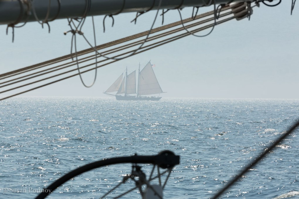 The view of a windjammer off the J & E Riggin - Windjammer cruise in Maine-672420180705
