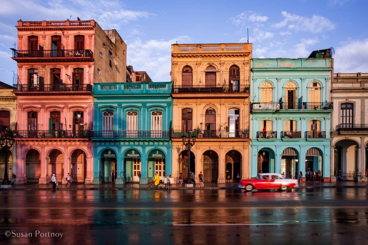 Paseo de Marti and its array of sherbet-colored buildings and vintage cars