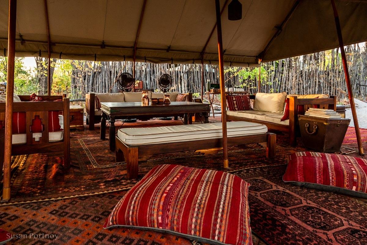 Lounge at Selinda -Botswana Safari