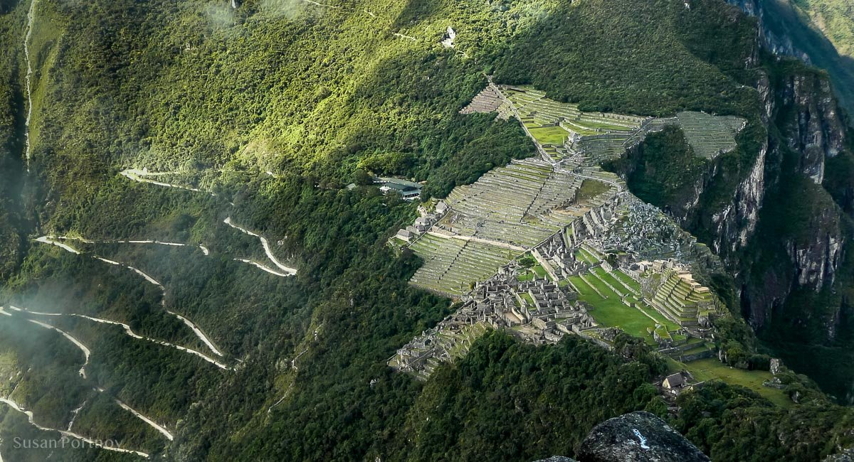 View of Machu Picchu from atop Wayna Picchu
