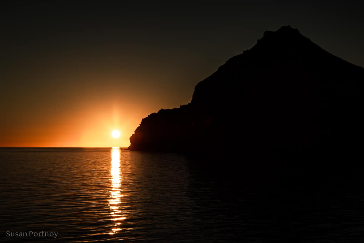 Sunrise on Isla Espirito Santo while Cruising the Sea of Cortez