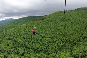 View from the 1st Hunter Mountain Zipline