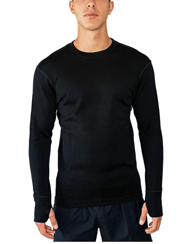 Men's: WoolX Glacier - Merino Wool Base Layer Crew Top - Heavyweight