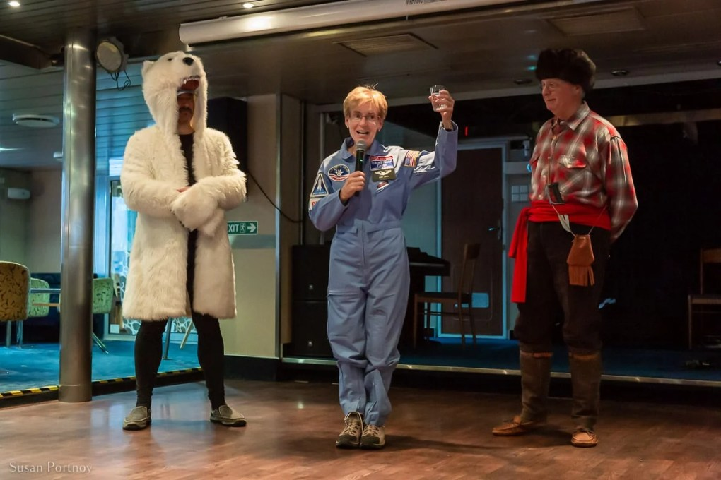 Explorers and Adventurer's party on the Ocean Endeavor in Greenland with Adventure Canada