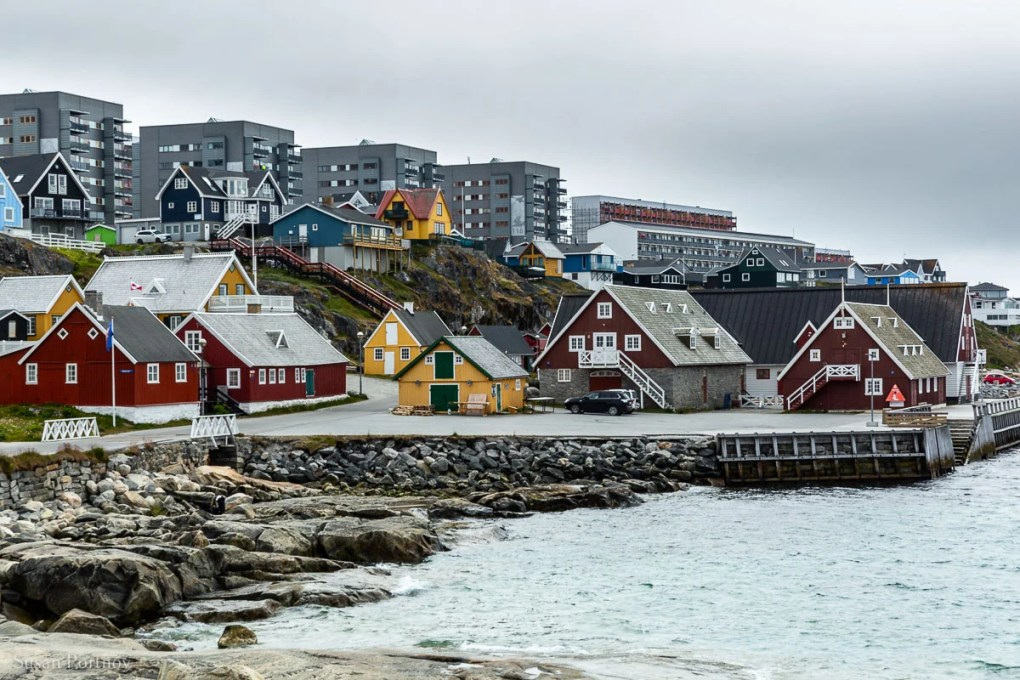The view down Hans Egedesvej Street in Nuuk where the Greenland National Museum is