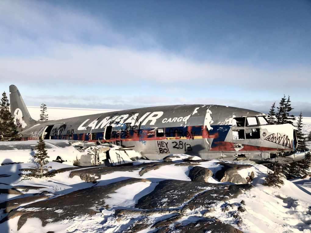 Miss Piggy, the wreckage of a crashed plane in Churchill, Manitoba, Canada