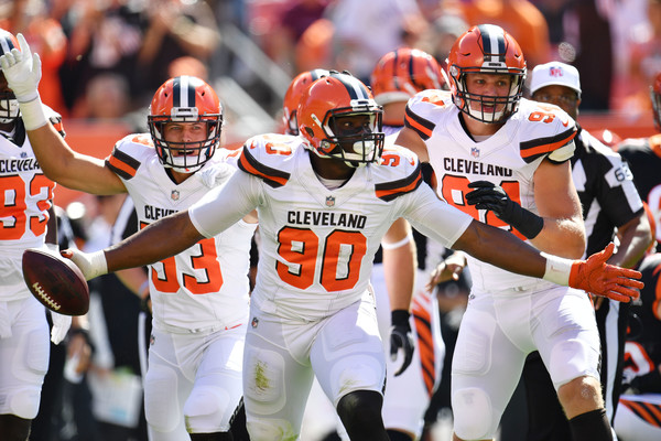 Emmanuel Ogbah (Oct. 1, 2017 - Source: Jason Miller/Getty Images North America)