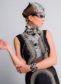 Vikki Lenola wearing Chavez Fashion