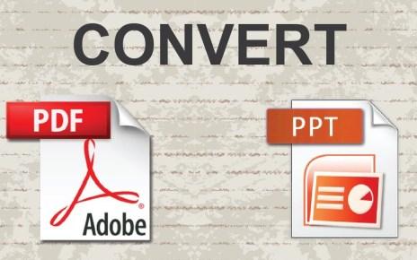 Convert PDF To PPT