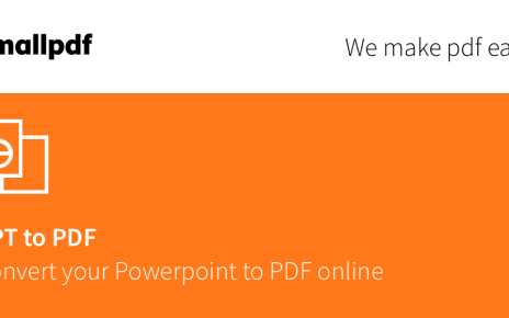 How To Convert PPT To PDF Files