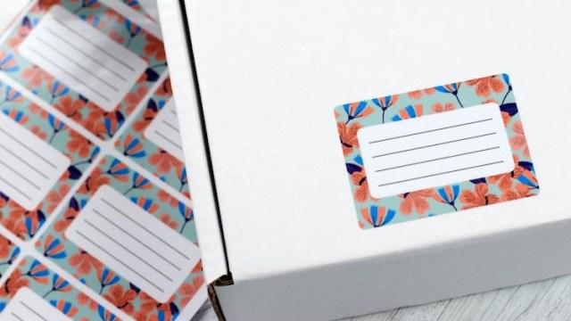 Paper address labels