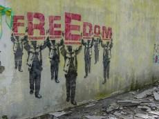 freedom grafitti