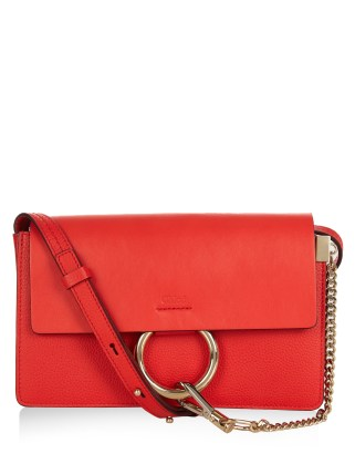 Chloe Faye Small Leather Cross-Body Bag AED 3,625