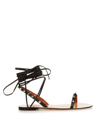 Valentino Rockstud Lace-up Leather Sandals AED 2,625