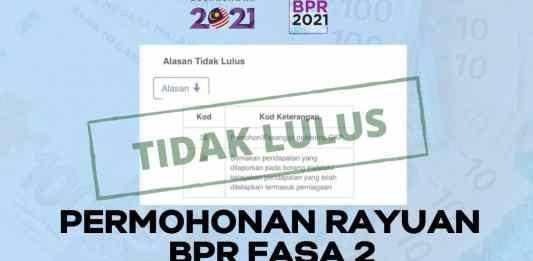Permohonan Rayuan Bantuan Prihatin Rakyat (BPR) Fasa 2 Tahun 2021