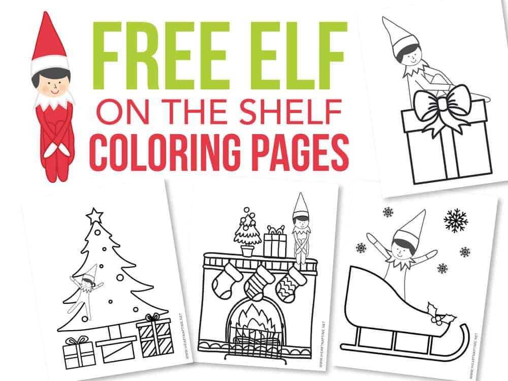 Free Elf On The Shelf Coloring Pages I Heart Naptime